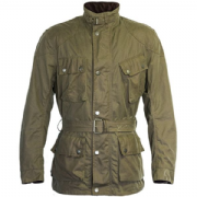 Richa Bonneville Wax Cotton Jacket Green